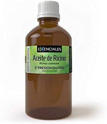 Essenciales - Aceite Vegetal de Ricino (Máxima Calidad), 100% PURO, 100 ml | Aceite Vegetal Ricinus Communis, 1º Presión en Frío: Amazon.es: Belleza