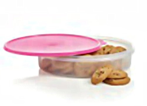 Pie Cake Carrier Round Tupperware Container Baked Good Server Pink
