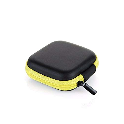 (Colorful Portable Mini Zip Round Hard Storage Pouch Case Coin Purse Earphone (Color - Yellow))