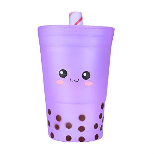 - JosepMK Purple Milk Tea-Shaped Decompression Toy can decompress Super Slow Rise Odor Squeeze Relieve Stress Toy Cute Expression Depression Decompression Toy Toy