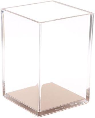 SimpleLife デスクオーガナイザー透明ペンシルケースペンコンテナローズゴールドカップステーショナリー