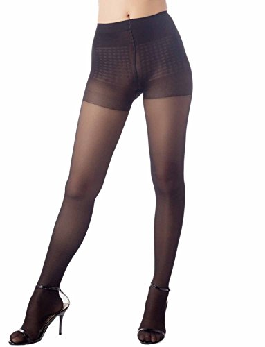 iB-iP Women's hosiery nude black soft ice silk Mid Waist Sheers Tights Pantyhose, Size: M-L, Black by iB-iP