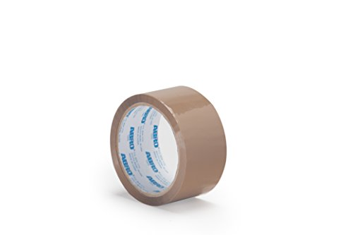 Moving Tape Industrial Strength Abro Carton Sealing BOPP Tape Clear 2 Rolls, Clear Warehouse Tape 2 inches x 110 Yds 1.8 Mil Thickness Heavy Duty Adhesive Packing Tape