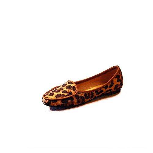 Primavera y verano de las mujeres zapatos planos/Plano casual zapatos asakuchi pies A