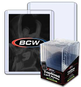 BCW 3 x 4 x 7 mm – Thick Card Topload Holder 240 pt – Baseball and Other Sports Trading Cards & Storage of Wax Packs