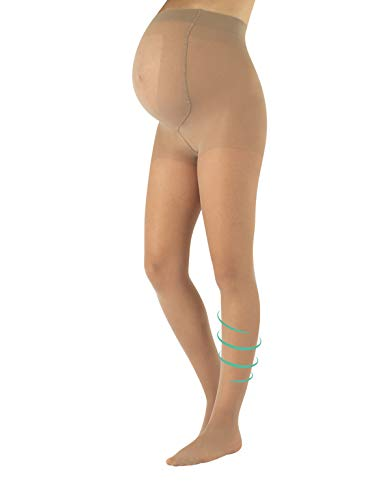 Maternity Support Tights | Black, Skin | S, M, L, XL | 20 DEN | Made in Italy (S, Skin) ()