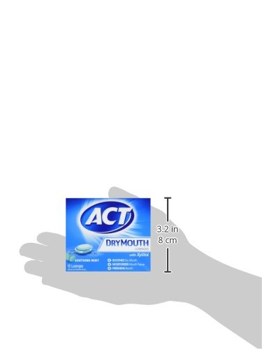 ACT Total Care, Dry Mouth Lozenges, 18 Count (Pack of 6), Soothing Mint Flavored Lozenges with Xylitol Help Moisturize Mouth Tissue to Sooth and Relieve Discomfort from Dry Mouth, Freshens Breath by ACT (Image #7)