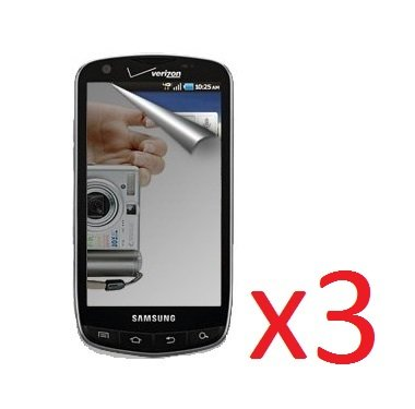 eTECH Collection 3 Pack of Mirror Reflected Style Screen Protector for Droid Charge / i510 - from (I510 Screen Protector)