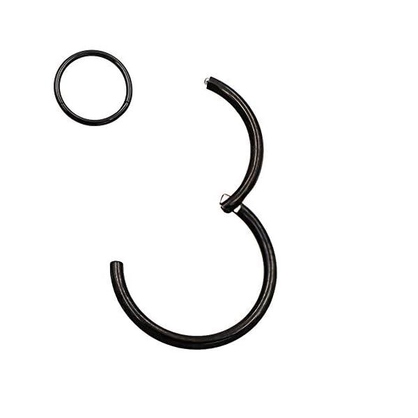Surgical Steel Hinged Nose Rings Hoop