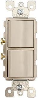 leviton 5634 w 15 amp 120 277 volt decora single pole ac rh amazon com Leviton Combination Switch Wiring Diagram Double Wall Switch Wiring Diagram