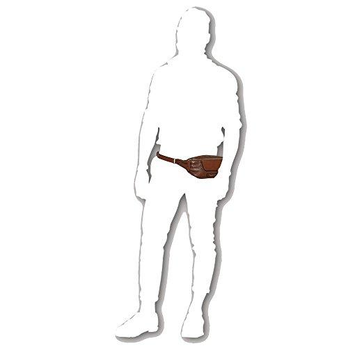Marsupio in pelle The Bridge | JAZZ | 38 x 13,5 x 7 cm marrone palladio