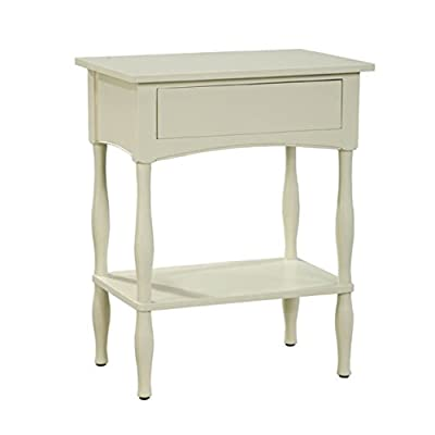 Alaterre Shaker Cottage End Table with Drawer, Sand - Sand Finish One Drawer, Shelf Available in three other Finishes - Black, Chocolate and Ivory - living-room-furniture, living-room, end-tables - 31M6FqhK1oL. SS400  -