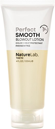(NatureLab. Tokyo - Perfect Smooth Blowout Lotion for frizz-free hair: Cruelty free, heat and color protection- 4.0 fl. oz. )