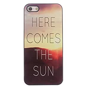 QJM Sunrise Design Aluminium Hard Case for iPhone 4/4S