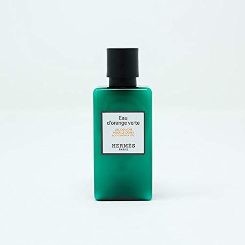 Six Hermès Eau d'Orange Verte Luxury Body Shower Gel/Gel Douche/Pour Le Corps In Bubble Bag - Set Of 6 X 1.35 Ounce / 40 ML Bottles, Total 8.1 Ounces / 240 ML