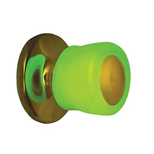 LCM Direct Glow in The Dark Door Knob Covers, Soft Antibacterial Gel - Set of 2
