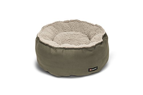 Big Shrimpy Catalina Plush Pet Bed for Cats and Small Dogs, Medium, Stone by Big - Shrimpy Big Bed Catalina