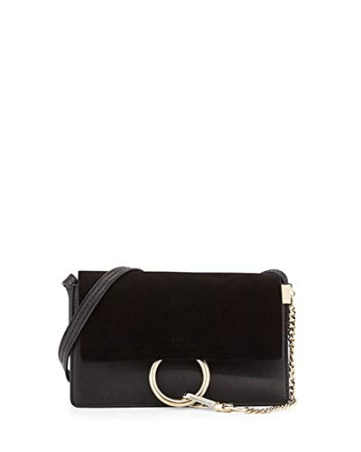 Chloe Faye Small Suede Leather Shoulder Bag made in Spain (Black ... d2cd1ff0c4a9e