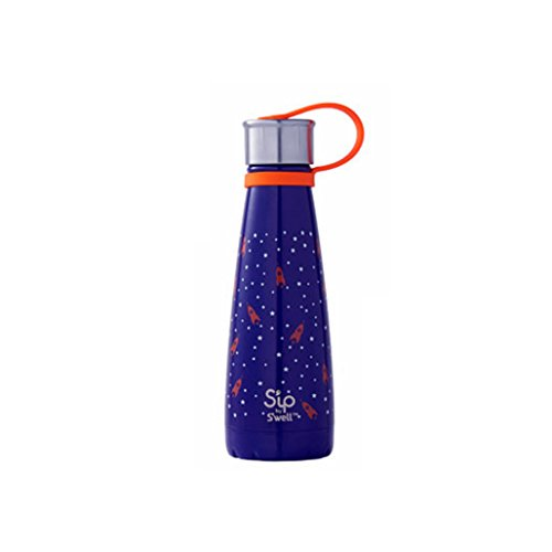 S'ip by S'well Vacuum Insulated Stainless Steel Water Bottle, 10oz, Rocket Power
