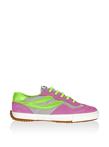 Superga 2832-NYLU Zapatillas de ante, Unisex - Adulto Fuxia-Grey-AcidGreen