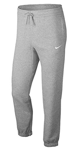 Nike M NSW Pant Cf FLC SMU - dk Grey Heather/White