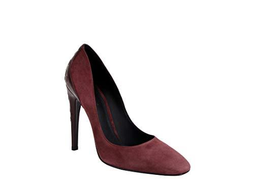 Bottega Veneta Dark Rose Suede Leather Kid Luxe Heels 430398 2240 (36 IT / 6 US)