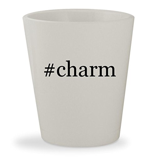#charm - White Hashtag Ceramic 1.5oz Shot - Nurse Italian Charm