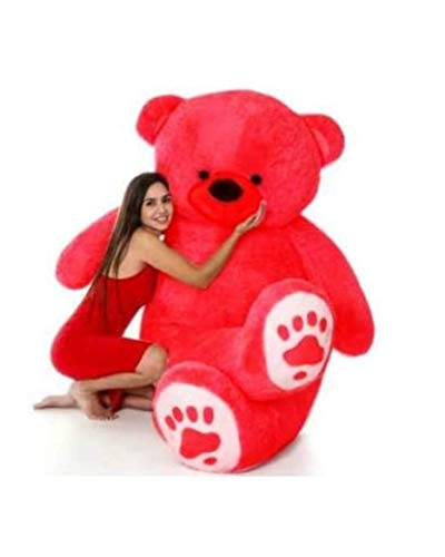 Nkl Standing Teddy Bear 24 Inch Red, Red Heart 12Cm
