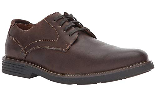 Dockers Mens Parkway Leather Dress Casual Oxford Shoe with NeverWet, Dark Brown, 9.5 W - Shoes Mens Oxford Casual