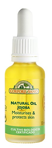 Corpore Sano JOJOBA NATURAL OIL first cold press.100% NATURAL OIL.CERTIFIED ORGANIC.For skin, hair or face-Imported from Spain-30 ml/1 fl. oz ()