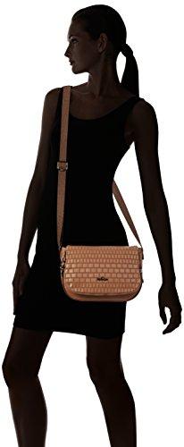 Bag Brown Weave Tan Shoulder Women's Earthbeat S Kipling aw4fAqI
