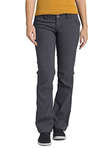 prAna - Women's Halle Roll-up, Water-Repellent Stretch Pants for Hiking and Everyday Wear, Short Inseam, Coal, 2 from prAna