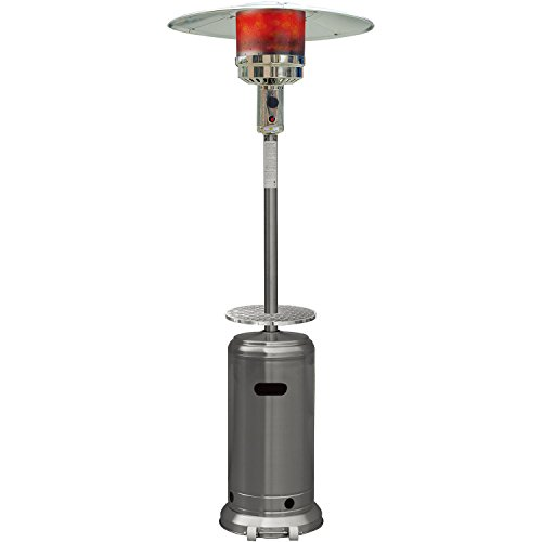 Hanover 41000 BTU Steel Umbrella Propane Patio Heater, 7′, Stainless Steel Finish Review