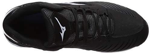 Mizuno Women's 9-Spike Advanced Sweep 4 Mid Metal Softball Cleat Shoe, Black/White 7.5 B US by Mizuno (Image #7)