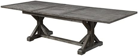 Emerald Home Paladin Rustic Charcoal Gray Dining Table