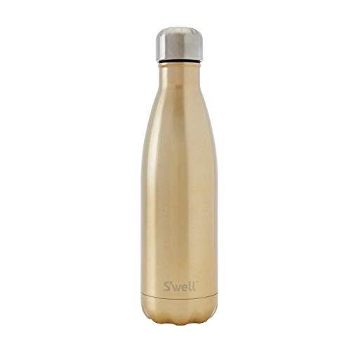 S#039well Vacuum Insulated Stainless Steel Water Bottle 17 oz Sparkling Champagne