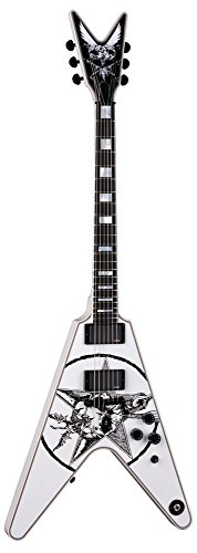 Dean Eric Peterson Signature Old Skull V - Limited Electric Guitar Classic White w/ White Deluxe Hardshell Case (Dean Eric Peterson Signature Old Skull V)
