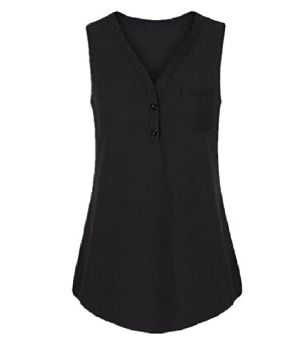 ホイールプロフェッショナル検出Tootess 女性の特大のベストvネックノースリーブの立体ブラウスシャツ