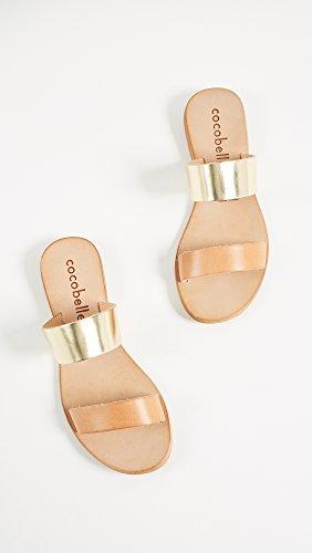 Cocobelle Kvinna Läder Glid Sandaler Naturliga