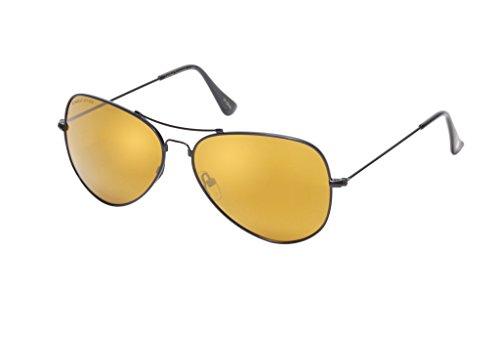 Eagle Eyes Memory Flex Aviators - Polarized Sunglasses, - Sunglasses On Clip Loaded Spring