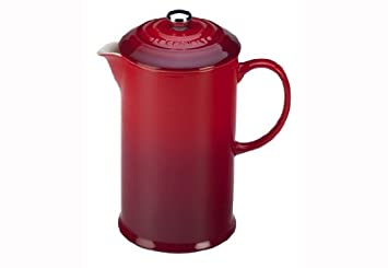 Le Creuset Stoneware 27oz. French Press, Cerise Cherry Red