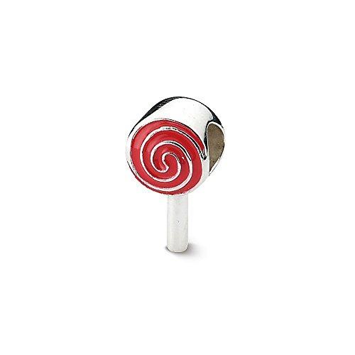 Enameled Lollipop - Sterling Silver Reflections Enameled Lollipop Bead