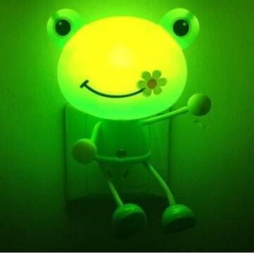 - Light Control Cartoon LED Night Light Wall Light Cute Kid Room Decor Gift/ Frog