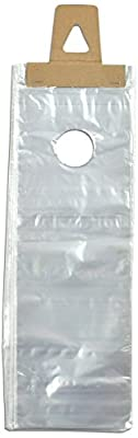 "Elkay D15 0.65 mil Polypropylene Doorknob Bag, 5 1/2"" x 15"", Clear (Pack of 2000)"