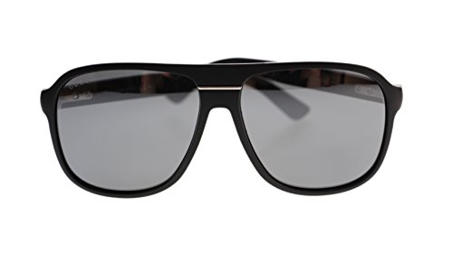 Gucci Men's Sunglasses GG1076 DL5 Matte Black/Grey Mirror Lens Aviator Authentic - Miu Gucci Miu