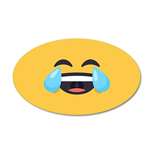 CafePress Cry Laughing Emoji Face 35x21 Oval Wall Decal, Vinyl Wall Peel, Reusable Wall Cling]()