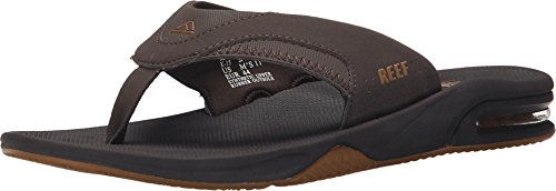 Reef Fanning Mens Sandals Bottle Opener Flip Flops For Men,Brown/Gum,12 M (12 Gums)