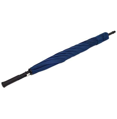 Original Kazbrella The inside out umbrella Reverse Folding Inverted Umbrella Double Layer Wind Proof UV Proof (Deep Blue (Straight Handle))