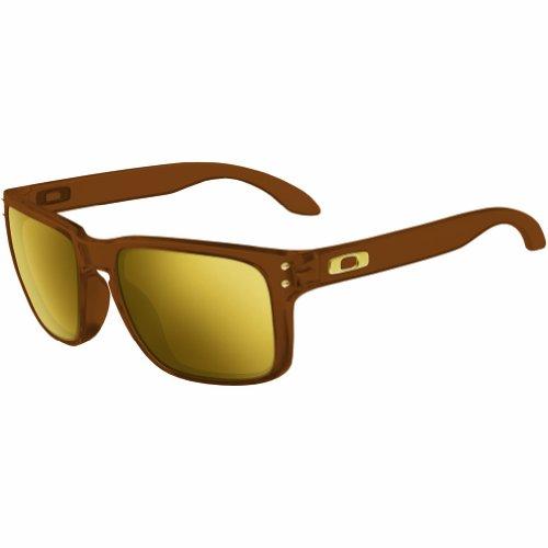 Oakley Men's Holbrook Rectangular Sunglasses, Matte Root Beer, 56 - Brown Holbrook Polarized Oakley