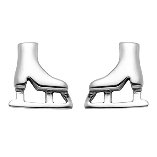 Small Sterling Silver Ice Skates Stud Earrings